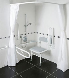 Shower Doc M Pack With White Rails