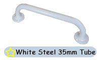 Grab Rails In White Steel