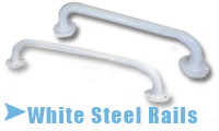 Grab Rail In White Steel